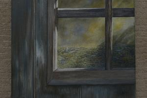 Window. Oil on canvas, 10in x 12in SOLD