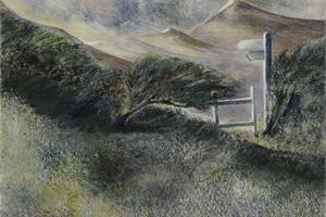 Coastal path, Jurassic coast. Oil on canvas 10in x 12in.