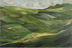 Approach to Dorset.Oil on canvas 24in x 36in.