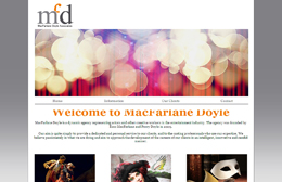 McFarlane Doyle - Performing arts web design by Toolkit Websites, Southampton