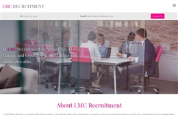 LMC - Recruitment website design by Toolkit Websites, professional web designers