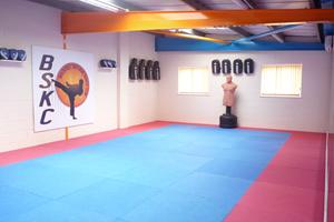 Our DOJO, fully matted with adidas equipment
