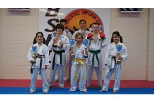 Winners from the Southern Karate Championships (July 2012)