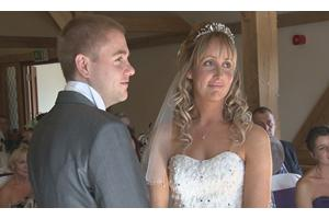 Fiona and Michael at The SANDHOLE OAK BARN