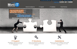 Mint IT - IT website design by Toolkit Websites, professional web designers