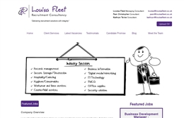 Louisa Fleet - Recruitment website design by Toolkit Websites, Southampton