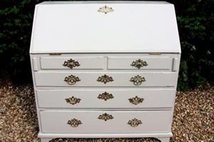 Vintage painted bureau with antique gold handles.