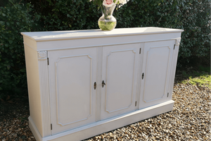 Vintage sideboard with fluted side detail, painted, distressed and waxed.