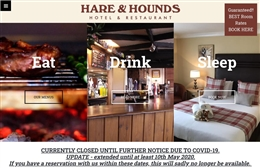Hare & Hounds - Hotel website design by Toolkit Websites, Southampton