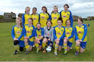 Girls Football at Great Yarmouth