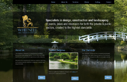 Whitnell Waterscape - Builders website design by Toolkit Websites, Southampton