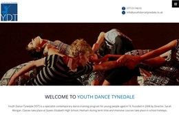 Youth Dance Tynedale - dance company web design by Toolkit Websites, Southampton
