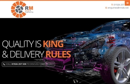 RM Design Engineering - website design by Toolkit Websites, professional web designers