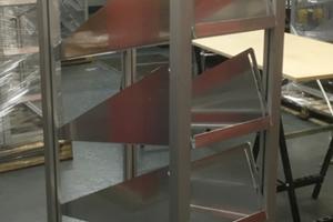 Kanban Rack manufactured from modular ali and ali plates