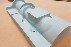 Composite pattern in epoxy model board
