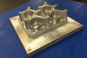 Vacuum forming tool machined from billet of ali