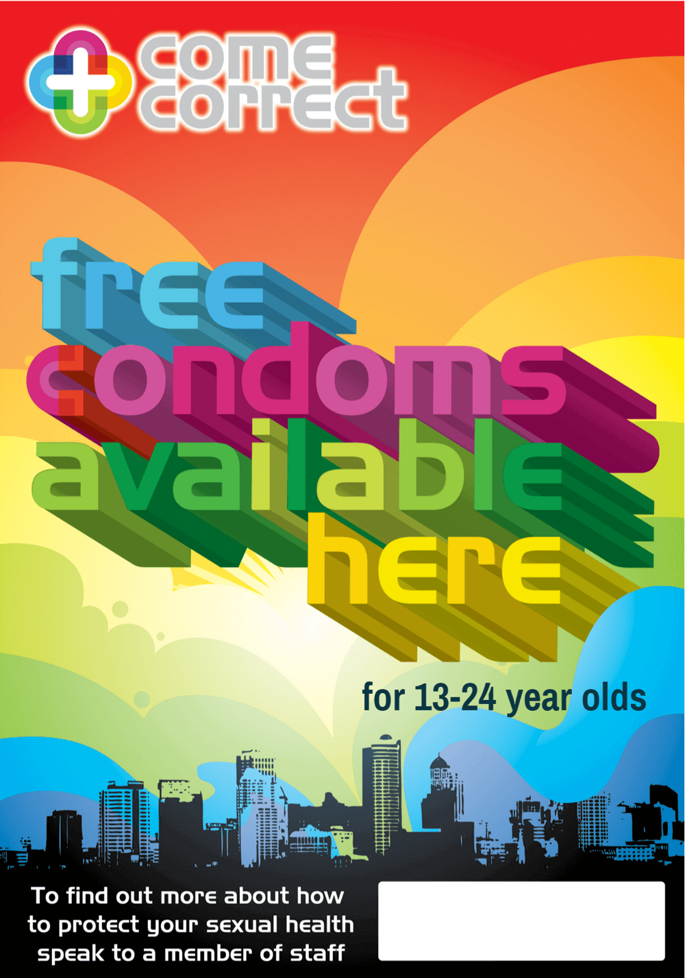 Mosaic Clubhouse come correct condom distribution partnership, young adults family planning,
