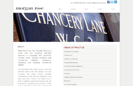 Morgan Rose - Chancery Lane solicitors web design by Toolkit Websites, Southampton