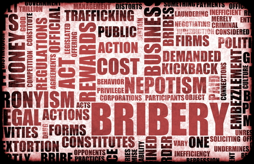 bibery and corruption Corruption includes any illegitimate use of office, and may include a range of  different types of crime bribery is limited to the giving or acceptance of payment  of.