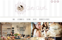 Betty Blythe - Vintage Tea Rooms website design by Toolkit Websites, Southampton