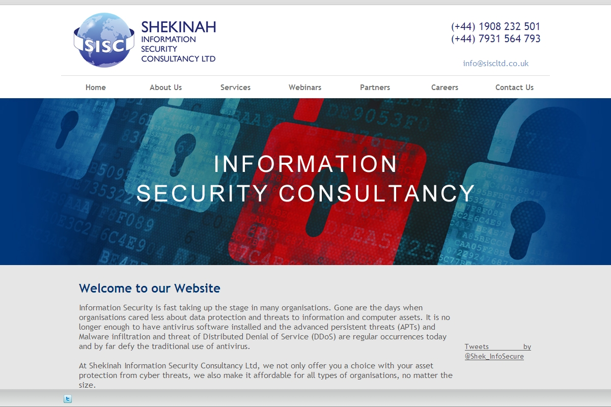 Welcome To Shekinah Information Security Consultancy Ltd