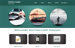 Matthew Knight - Notary web design by Toolkit Websites, Southampton