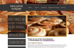 Biglands Bakery - Bakery website design by Toolkit Websites, Southampton