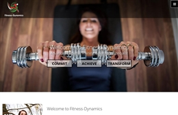 Fitness Dynamics - Personal Trainer website design by Toolkit Websites, Southampton