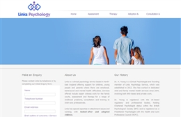 Links Psychology - Psychology website design by Toolkit Websites, Southampton