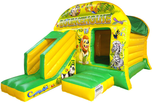 Animal Jungle Inflatable with Slide\r\n\r\nSize 12 x 18  \r\n3 66m x 5 50m this castle is 9  tall\r\n\r\nMax age 12 years old \r\n\r\nMax capacity at any one time 10 varies due to age \r\n\r\nPrice 70 GBP