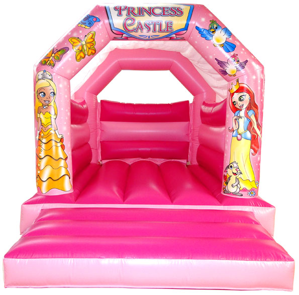 Pink Princess Party Bouncy Castle\r\n\r\nSize  11 x 15\r\n3 35m x 4 58m This castle is 10 tall\r\n\r\nMax age  12 years old\r\n\r\nMax capacity at any one time 10 varies due to age\r\n\r\nPrice 60 GBP\r\n