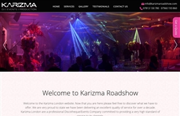 Karizma - Events company website design by Toolkit Websites, Southampton