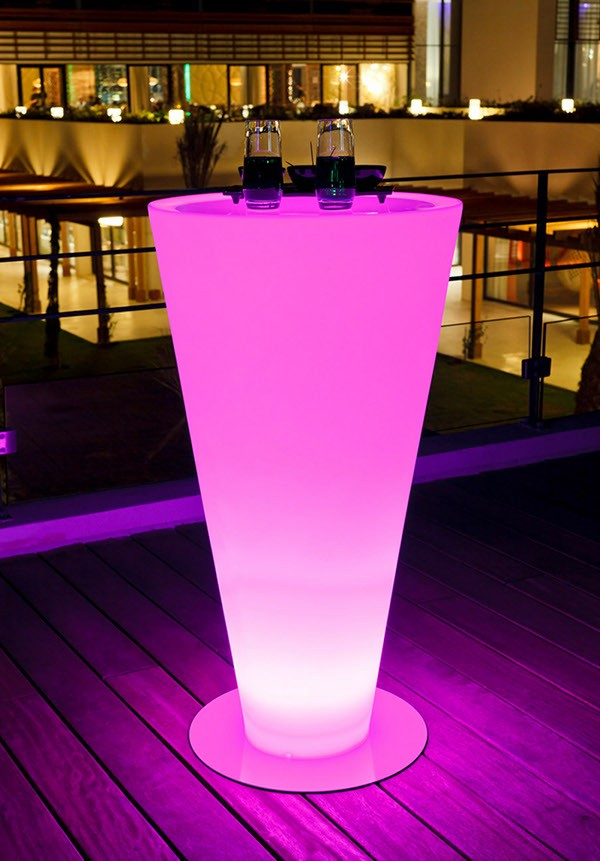 Led d cor for Cocktail tables led
