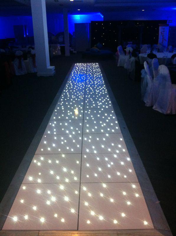 Led Dance Floors White Starlit Disco Dance Floor Walkway