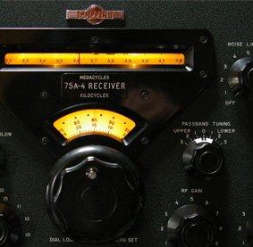 Close up of a 75A-4 Reciever dial
