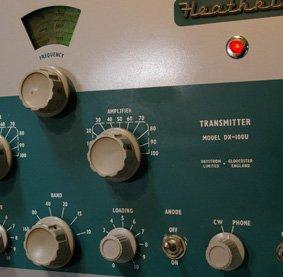Controls on a DX-300U AM Transmitter