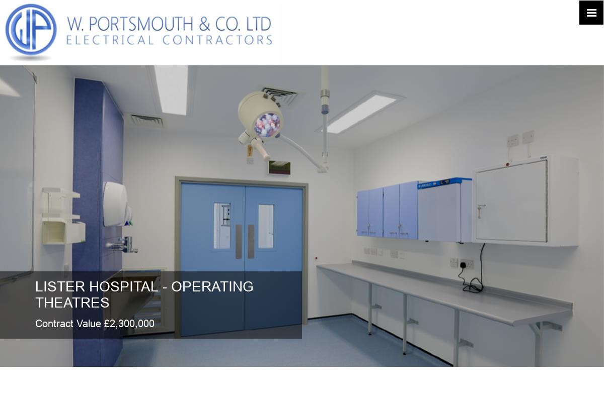 Welcome To W Portsmouth And Co Ltd London Electrical Contractor