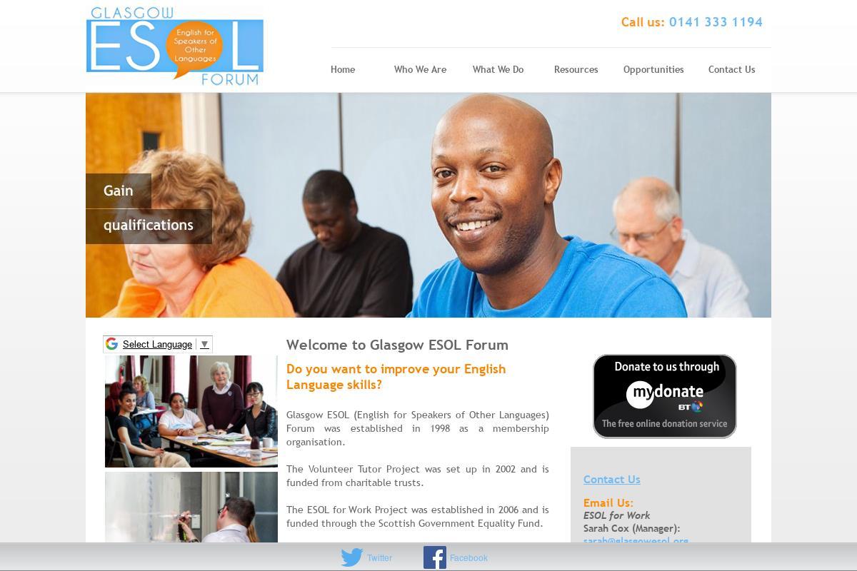 Welcome To Glasgow ESOL Forum : Glasgow ESOL Forum