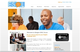 Glasgow ESOL - Language school website design by Toolkit Websites, Southampton