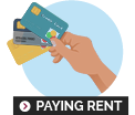 pay rent for property