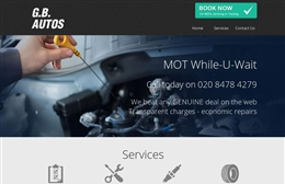 GB Autos - website design by Toolkit Websites, Southampton