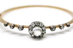 Moonstone and Diamond Bracelet, C1920's £3995