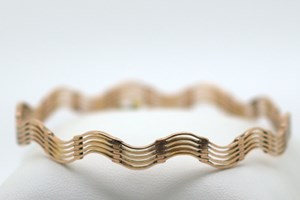 9ct Wave Bangle in Rose Gold.  Antique £445