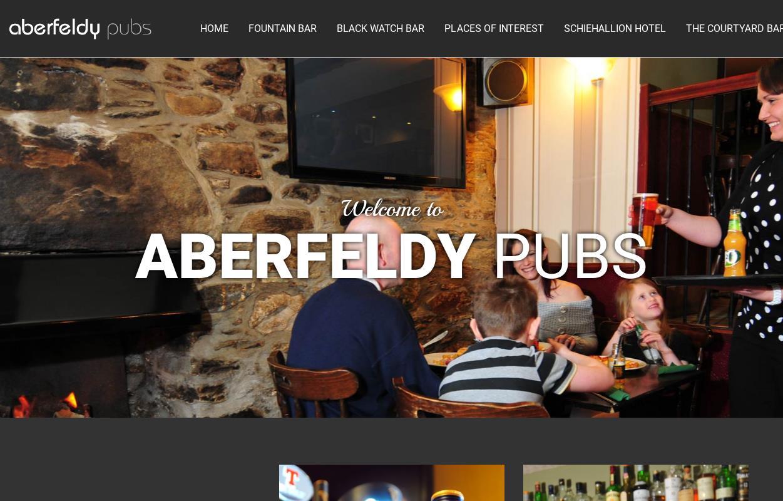 Schiehallion Hotel Aberfeldy Menu