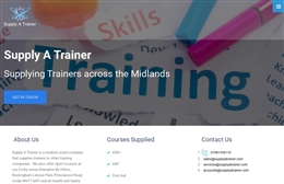 Supply A Trainer - website design by Toolkit Websites, professional web designers
