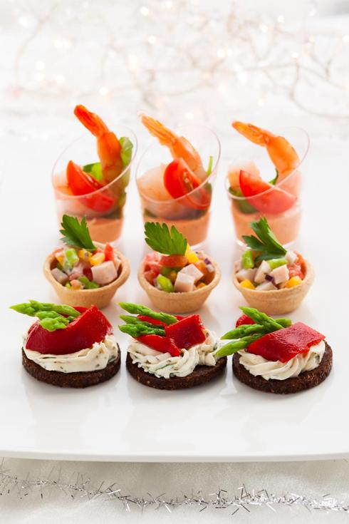 Canapes finger food pomegranate catering for Canape appetizers