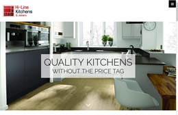 Hi-Line Kitchens - Kitchen company website design by Toolkit Websites, Southampton
