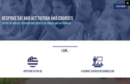 UES London - Tutoring website design by Toolkit Websites, professional web designers