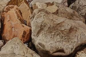 Beach Boulders I  750 x 510mm SOLD