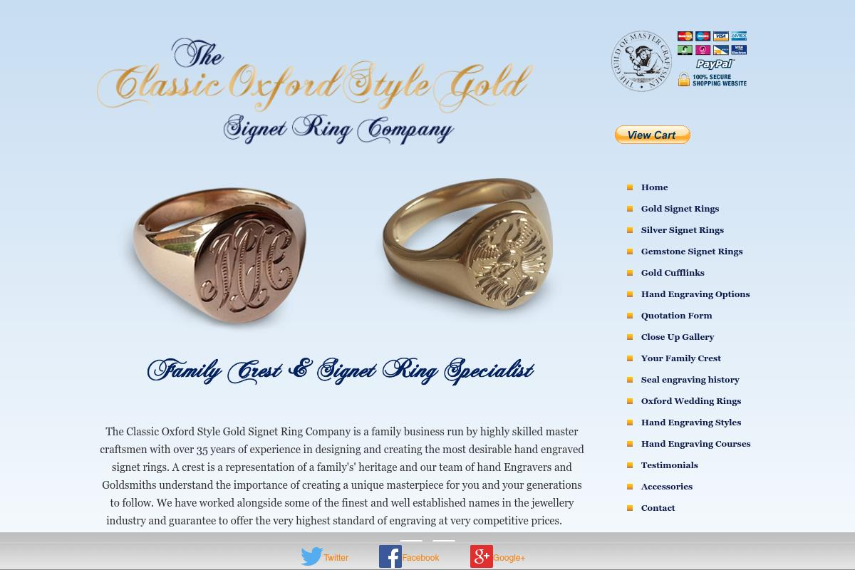 Signet Rings and Crests : Hand Engraving Specialists